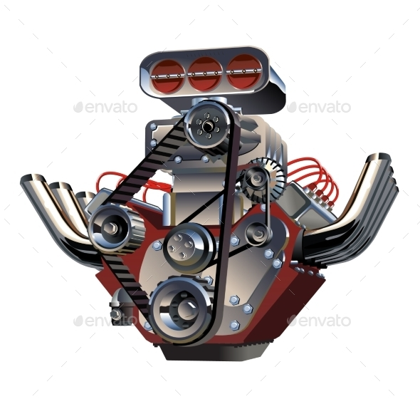 GraphicRiver Vector Cartoon Turbo Engine 10916313