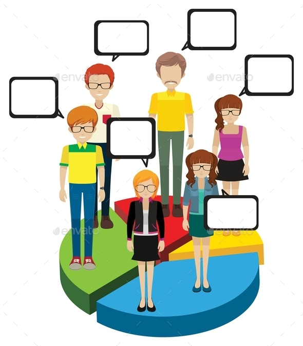 GraphicRiver People with Speech Bubbles 10916419