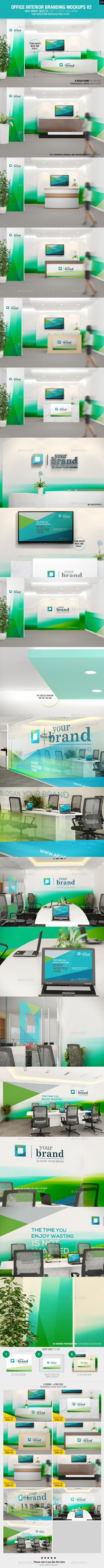 GraphicRiver Office Interior Branding Mockups V2 10916425