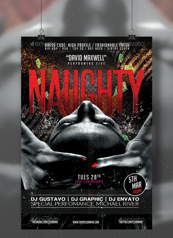 GraphicRiver Naughty Black Flyer 10821178