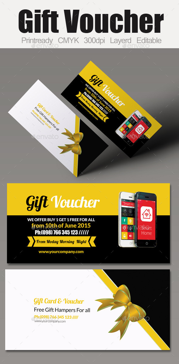 GraphicRiver Multi Use Business Gift Voucher 10916549