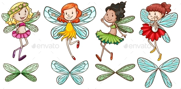 GraphicRiver Four Fairies 10916595