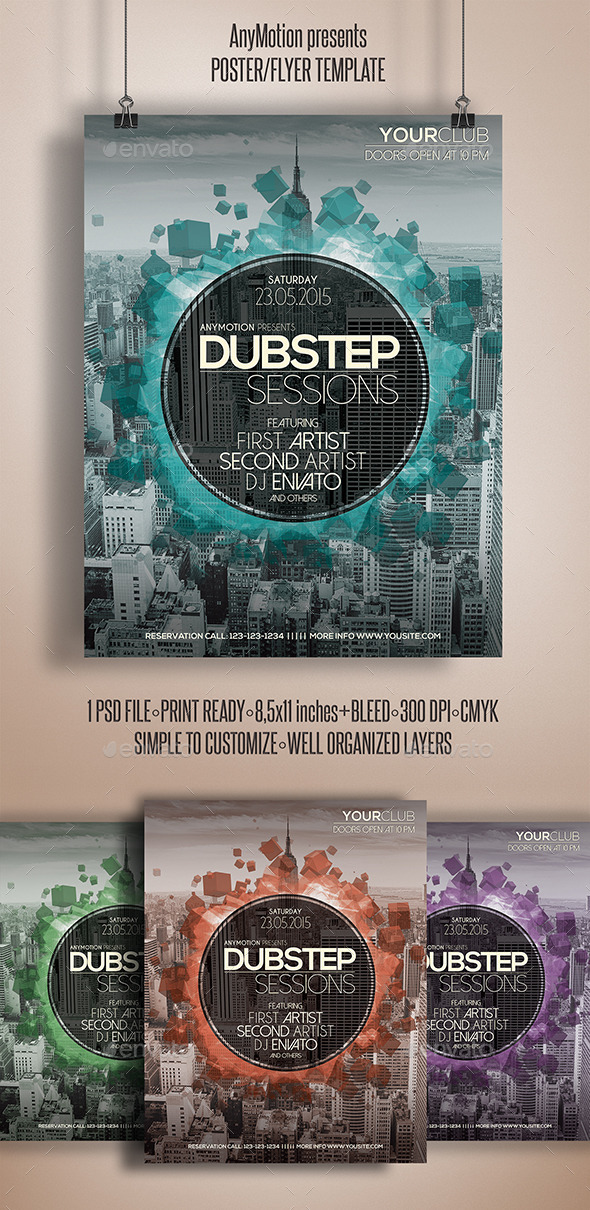 GraphicRiver Dubstep Sessions Flyer Template 10916673