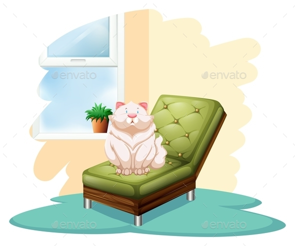 GraphicRiver Cat on a Chair 10916761
