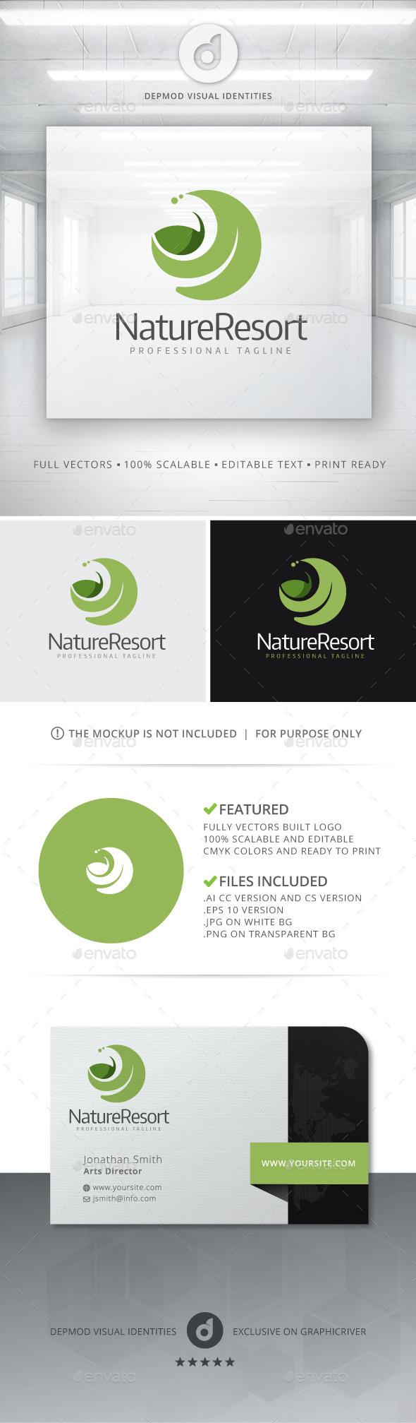 GraphicRiver Nature Resort Logo 10916790