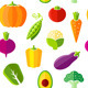 Seamless Pattern with Fresh Organic Vegetables - GraphicRiver Item for Sale