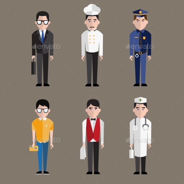 GraphicRiver Different Character Professions 10917106