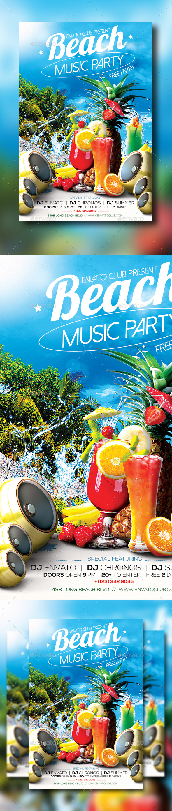 GraphicRiver Beach Party 10856096