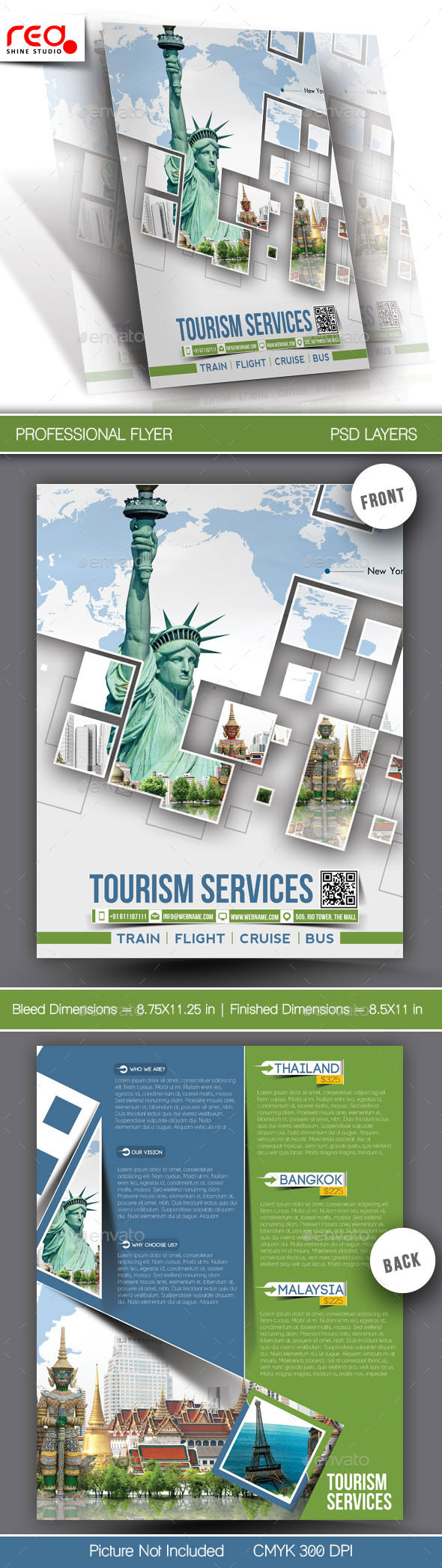 GraphicRiver Tourism Service Flyer & Poster Template 10917122