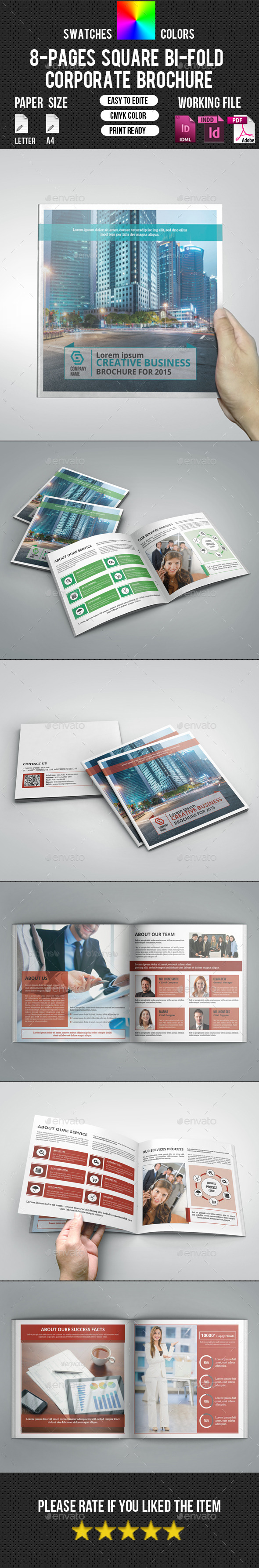 GraphicRiver Corporate Square Bifold Brochure-V15 10917218
