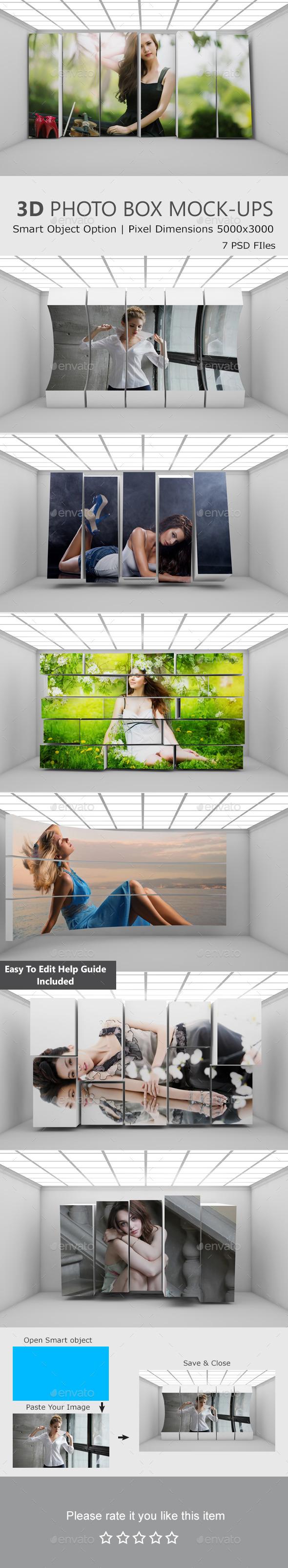 GraphicRiver 3D Photo Box Mockups 10917264