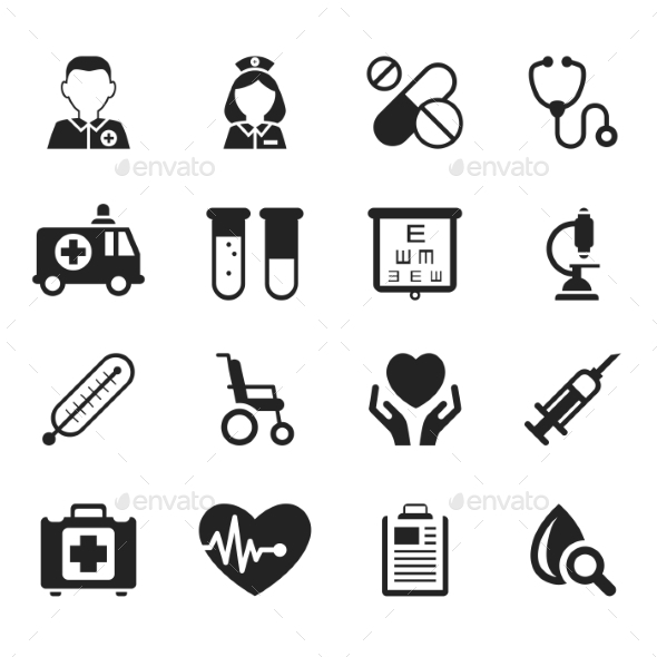 GraphicRiver Medical Icons Vector 10917276