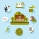 Buying a Home and Loan Icons - GraphicRiver Item for Sale
