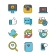 Social Network and Media Icon Set - GraphicRiver Item for Sale