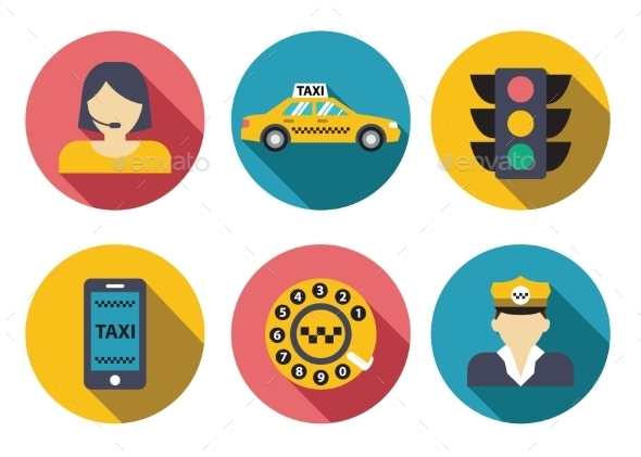 GraphicRiver Taxi Service Set 10917299