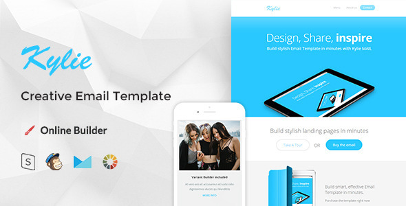 ThemeForest Kylie Modern Email Template & Online Editor 10835204