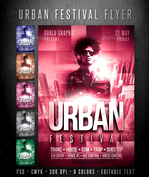 GraphicRiver Urban Festival Flyer 10917394