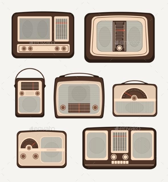 GraphicRiver Retro Technology Radio 10917625