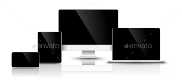 GraphicRiver Modern Black Devices 10917680