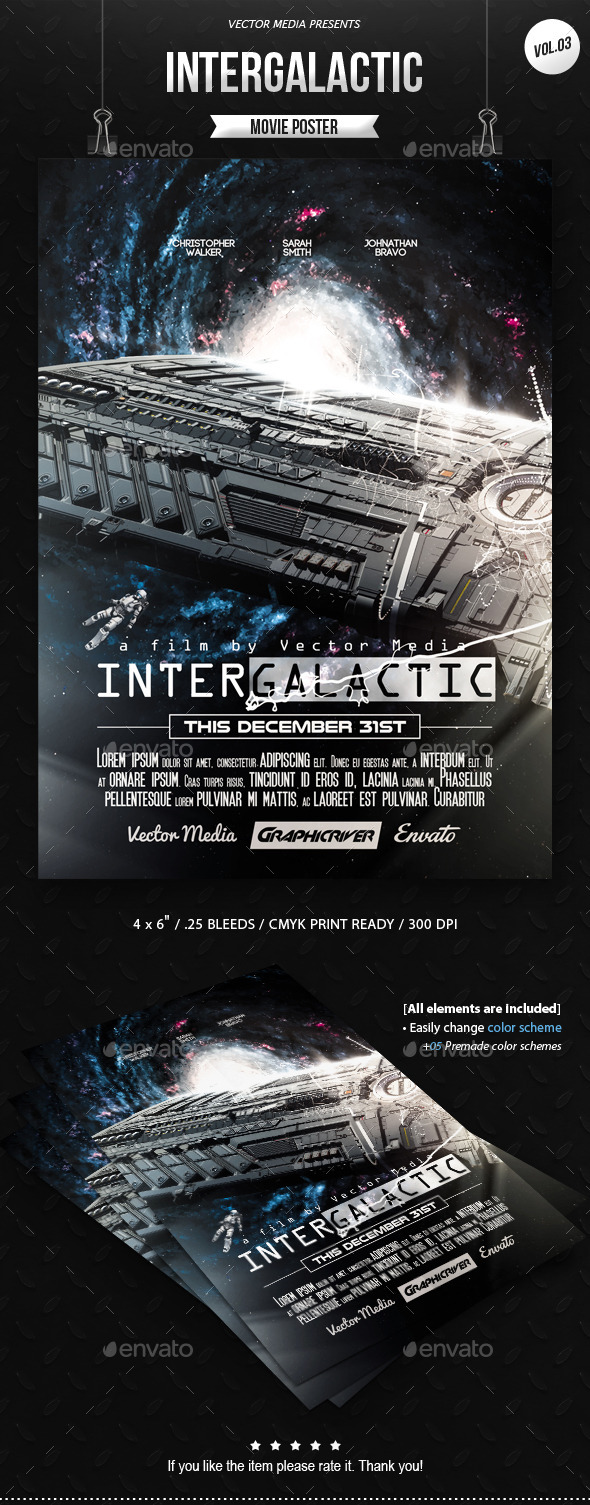 GraphicRiver Intergalactic Movie Poster [Vol.3] 10917693