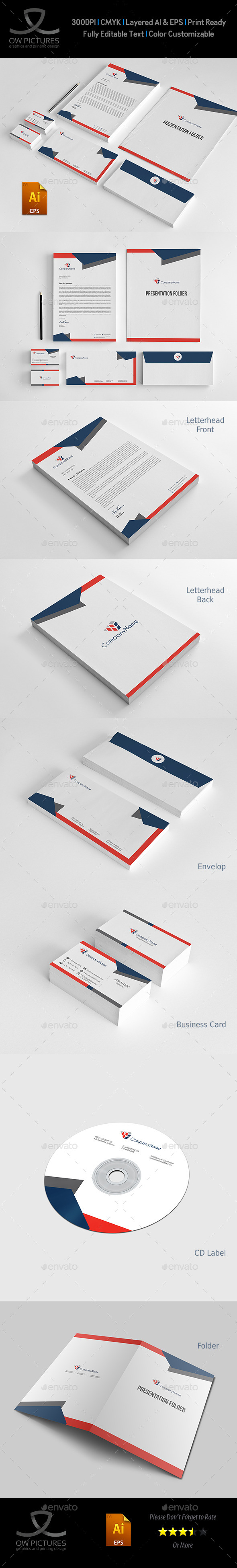 GraphicRiver Corporate Stationery Pack Design Template Vol.11 10917751