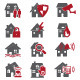House Security Icons  - GraphicRiver Item for Sale