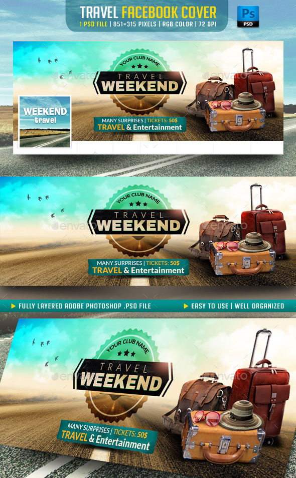 GraphicRiver Travel Facebook Cover 10917765