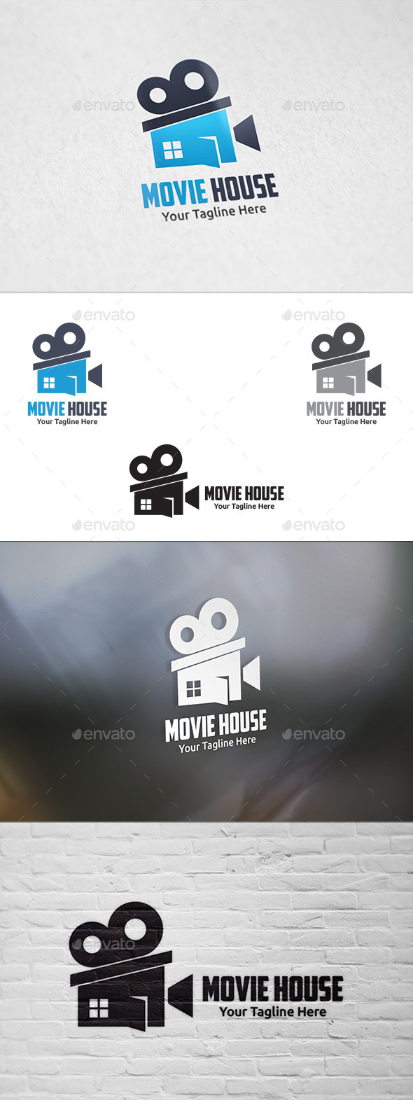 GraphicRiver Movie House Logo Template 10917921