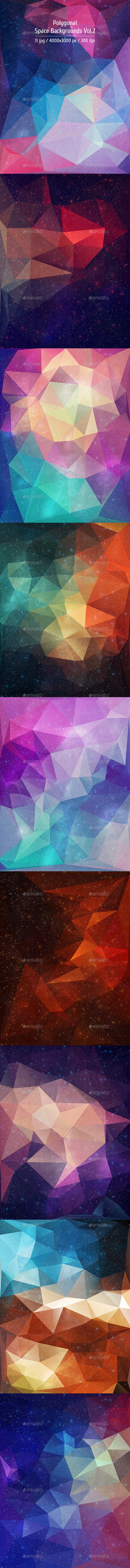GraphicRiver Polygonal Space Backgrounds Vol.2 10918101