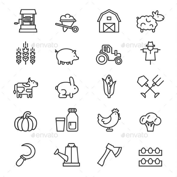GraphicRiver Farm Icon Vector 10918383