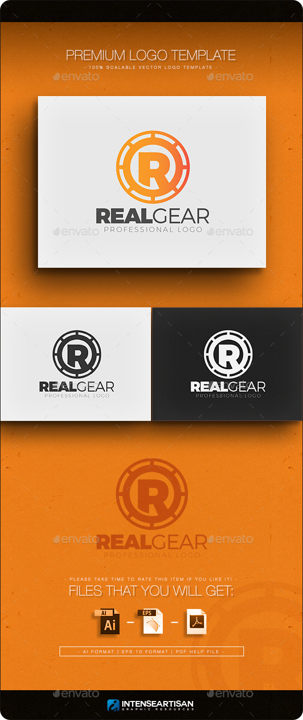 GraphicRiver Real Gear Logo Template 10918662