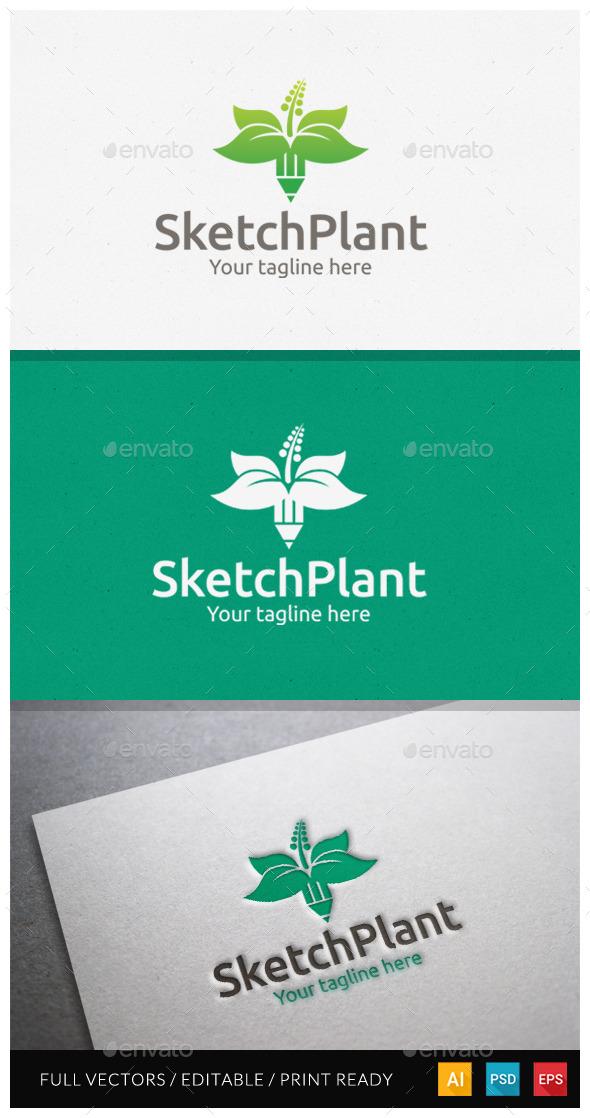 GraphicRiver Sketchplant Logo Template 10918668