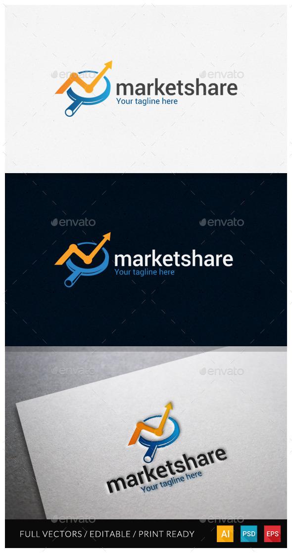 GraphicRiver Marketshare Logo Template 10919114
