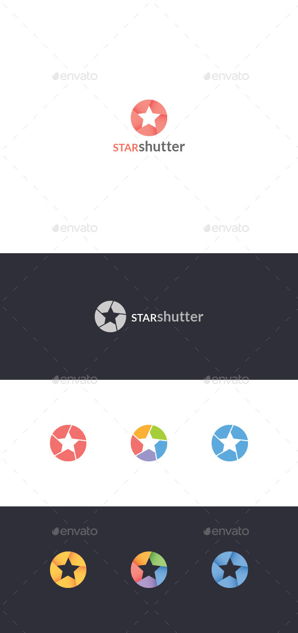 GraphicRiver Photo Star Logo Template 10919163