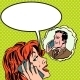 Woman and Man Talk on Phone Pop Art - GraphicRiver Item for Sale