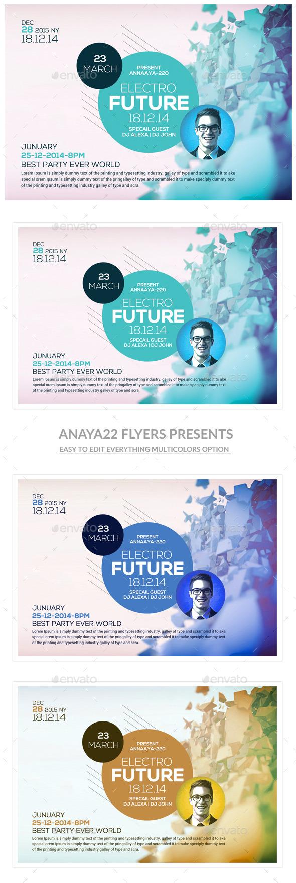 GraphicRiver Minimal Futuristic Psd Flyer Templates 10919267