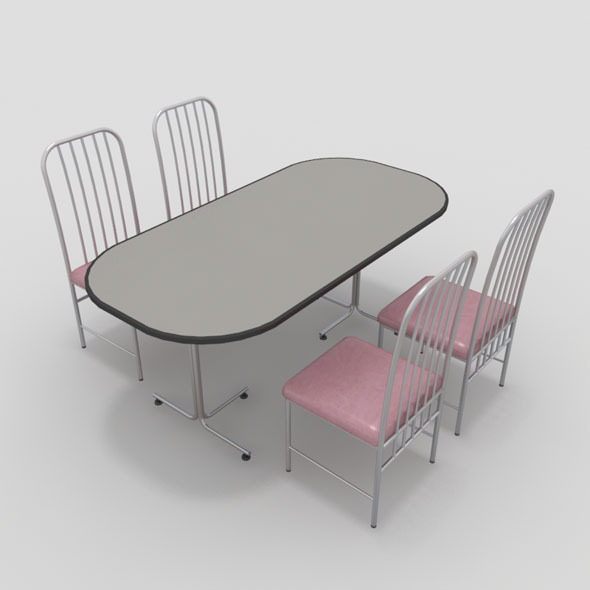 3DOcean Table with Chairs-5 10919288