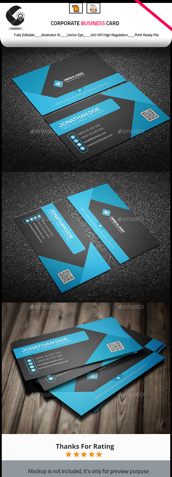 GraphicRiver Corporate Business Card 10919299
