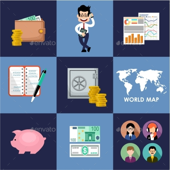 GraphicRiver Finance and Banking Set 10919342