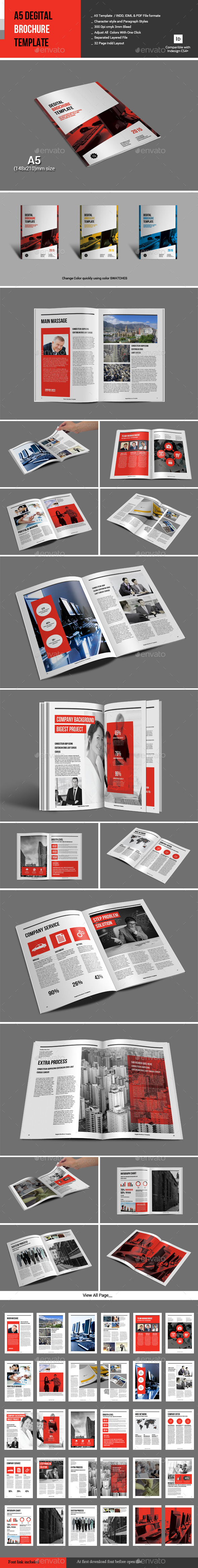 GraphicRiver A5 Degital Brochure Template 10919343