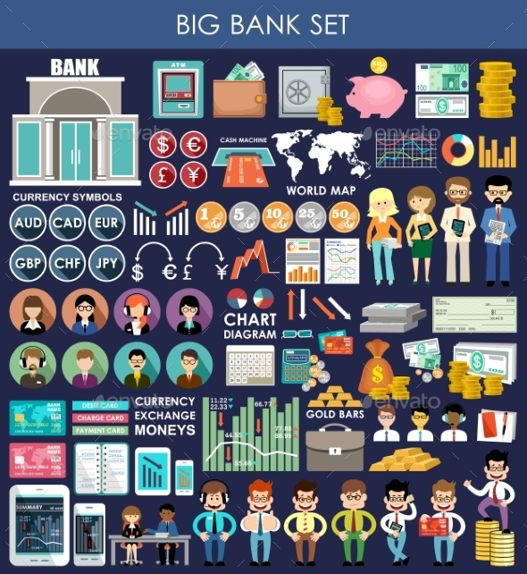 GraphicRiver Bank Set 10919348