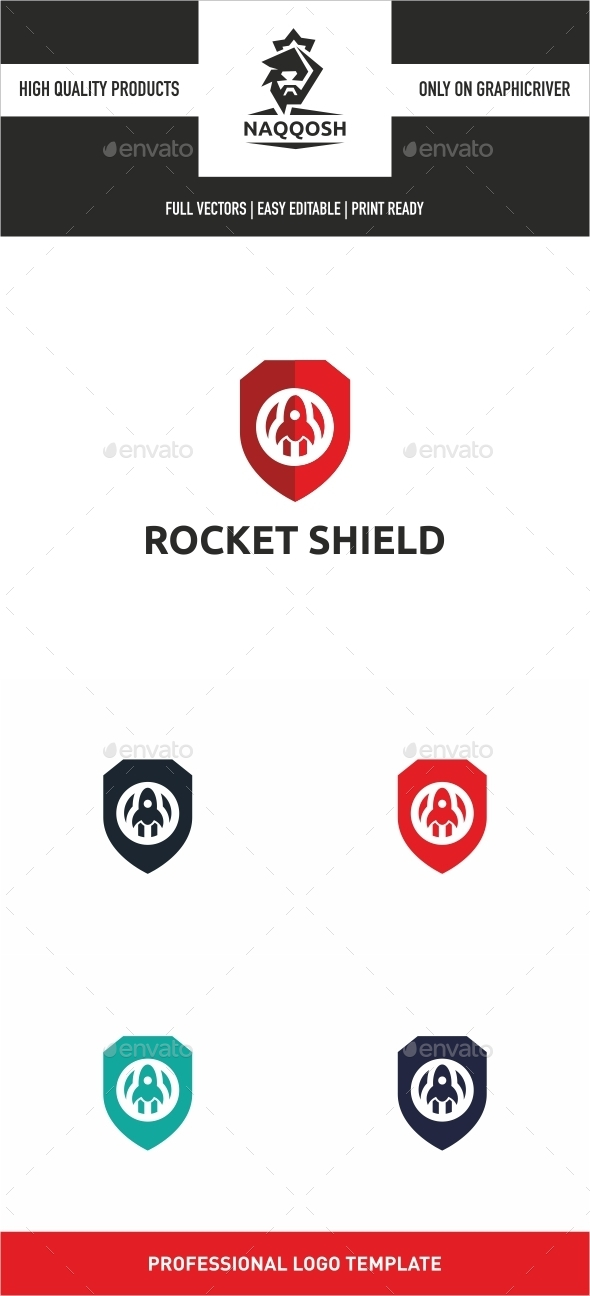 GraphicRiver Rocket Shield 10919353