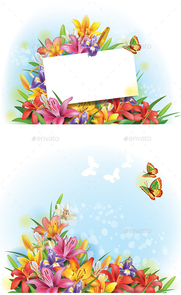 GraphicRiver Arrangement of Flowers 10919374