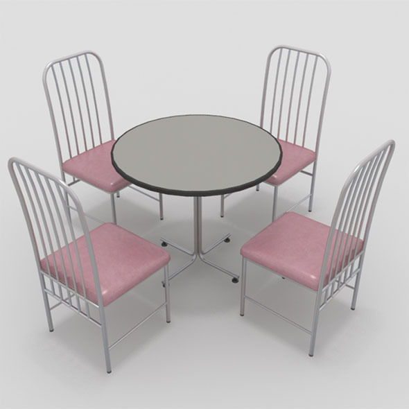 3DOcean Table with Chairs-6 10919381