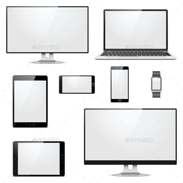 GraphicRiver Modern Electronic Devices 10919397