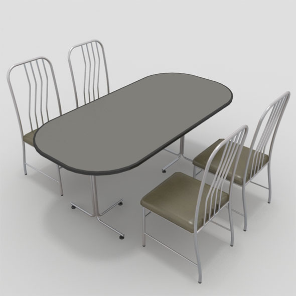 3DOcean Table with Chairs-7 10919521