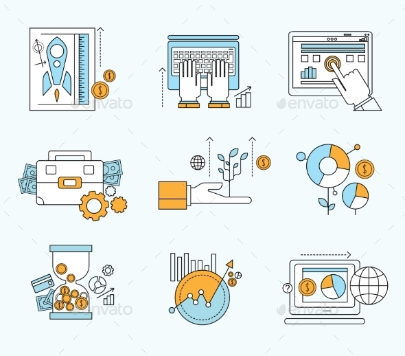 GraphicRiver Vector Collection Flat Business and Finance Icons 10919763