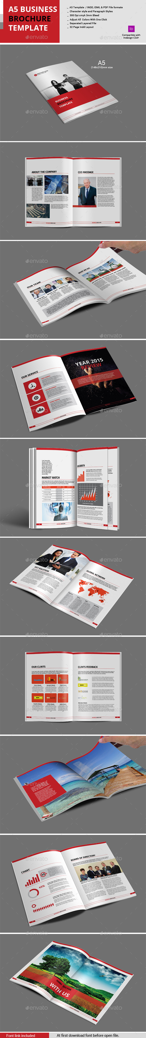 GraphicRiver A5 Business Brochure Template 10919782