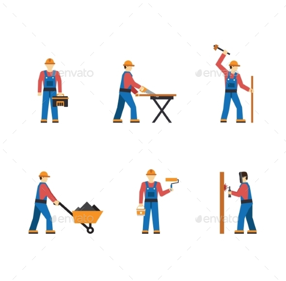 GraphicRiver Construction Workers 10919785