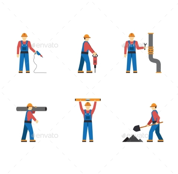 GraphicRiver Construction Workers 10919787